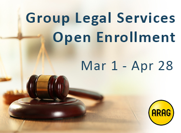 Group legal services open enrollment march first through april twenty-eighth