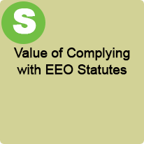 1:45 P.M. to 2:45 P.M., Value of Complying with EEO Statutes