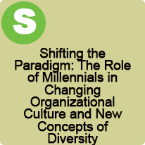 9:45 A.M. to 10:45 A.M., Shifting the Paradigm: The Role of Millennials in Changing Organizational Culture and New Concepts of Diversity