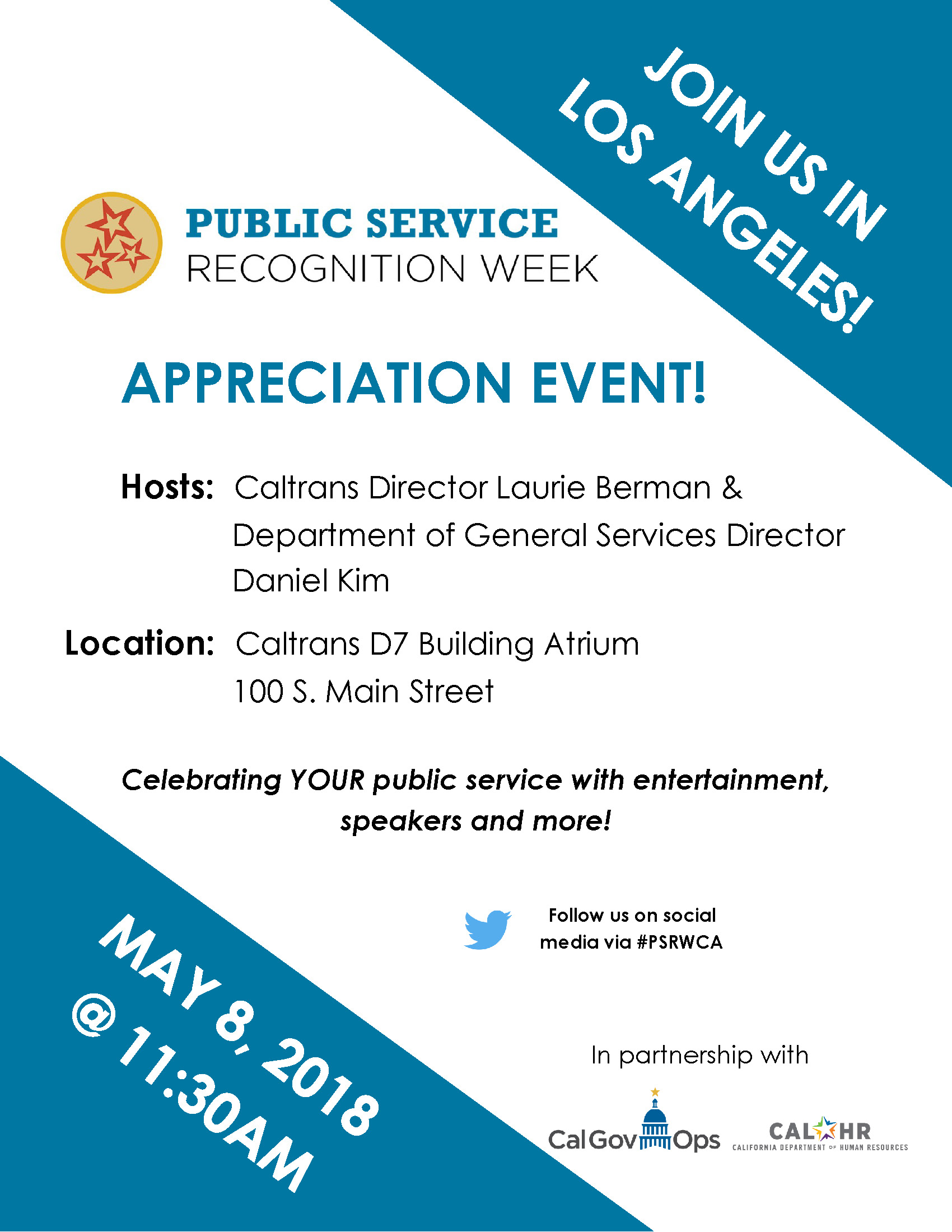 Public Service Recognition Week 2018 Los Angeles Flier