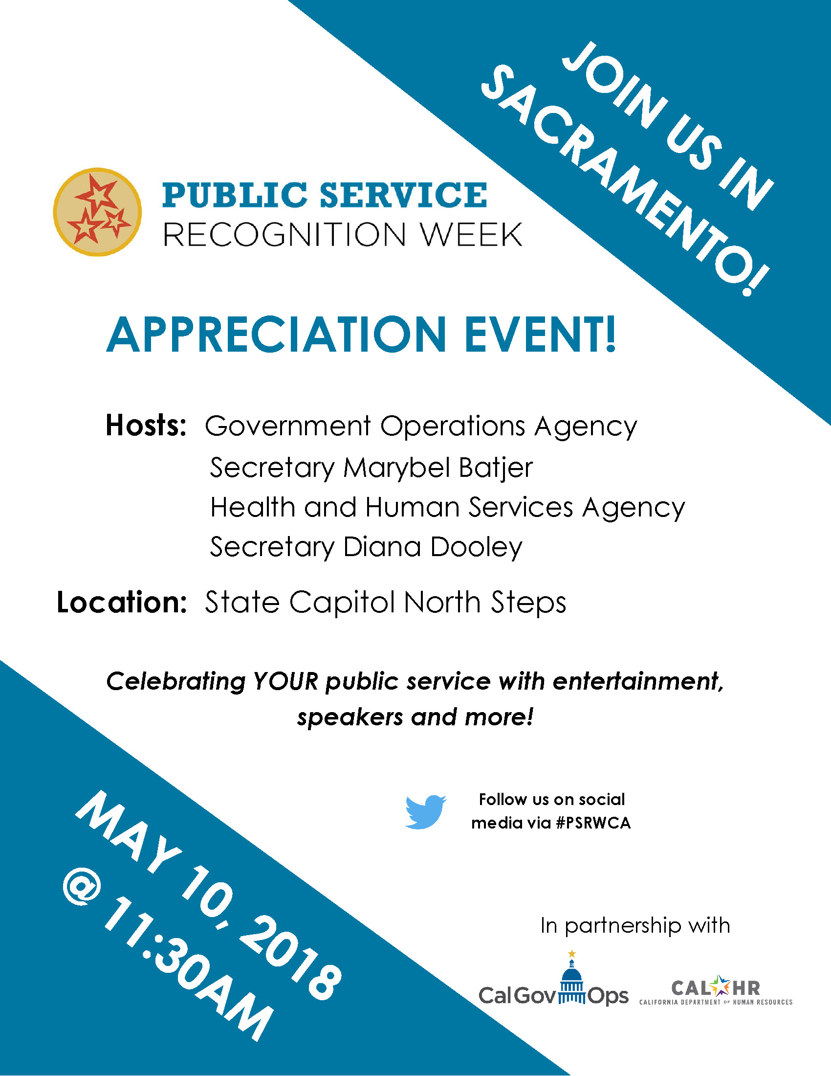 Public Service Recognition Week 2018 Sacramento Flier